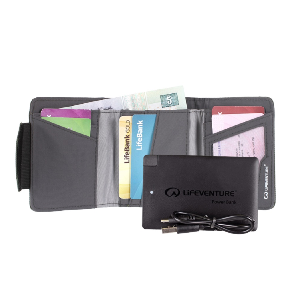 Кошелек Lifeventure RFID Charger Wallet Recycled