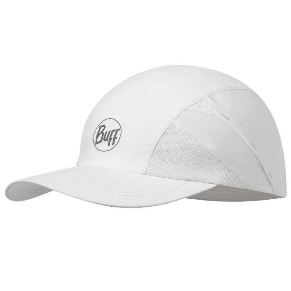 Кепка Buff Pro Run Cap Solid R-White/Black